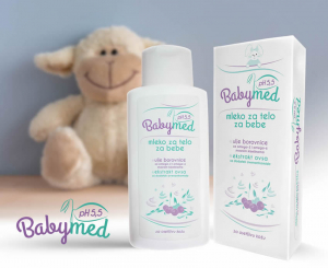 BabyMed, mleko za telo pH 5,5 - Za osetljivu bebinu kožu